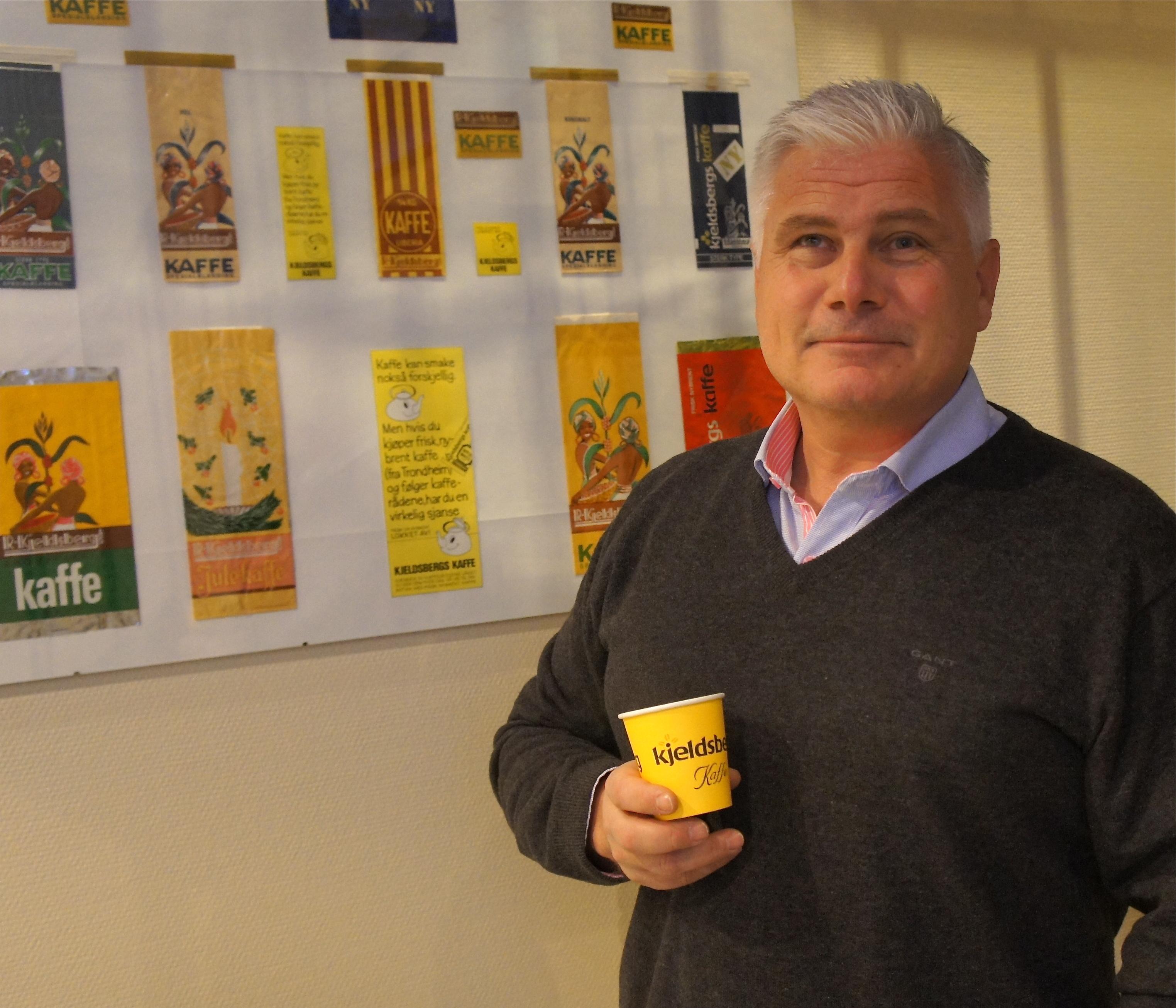 VIL BLI KAFFEKONGE. Administrerende direktør i Kjeldsberg Kaffebrenneri, Odd Strand troppet på som sjef ved det tradisjonsrike brenneriet i 2009.
