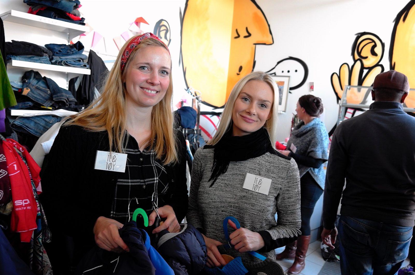Maria Lund og Mari er to av ildsjelene som har startet Gratisbutikken Te og Tøy i Ilsvika. Nå er de også nominert til Årets Trønder.