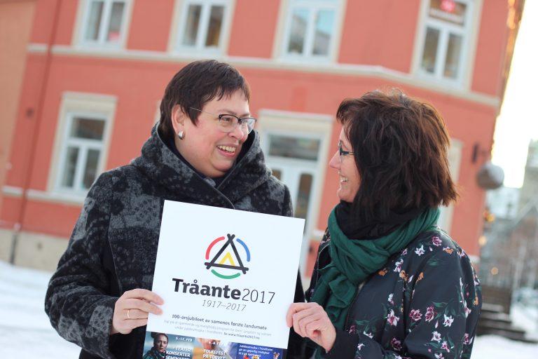 Ordfører Rita Ottervik og Johanne Sundby, Kommunikasjonsansvarlig i Tråante 2017